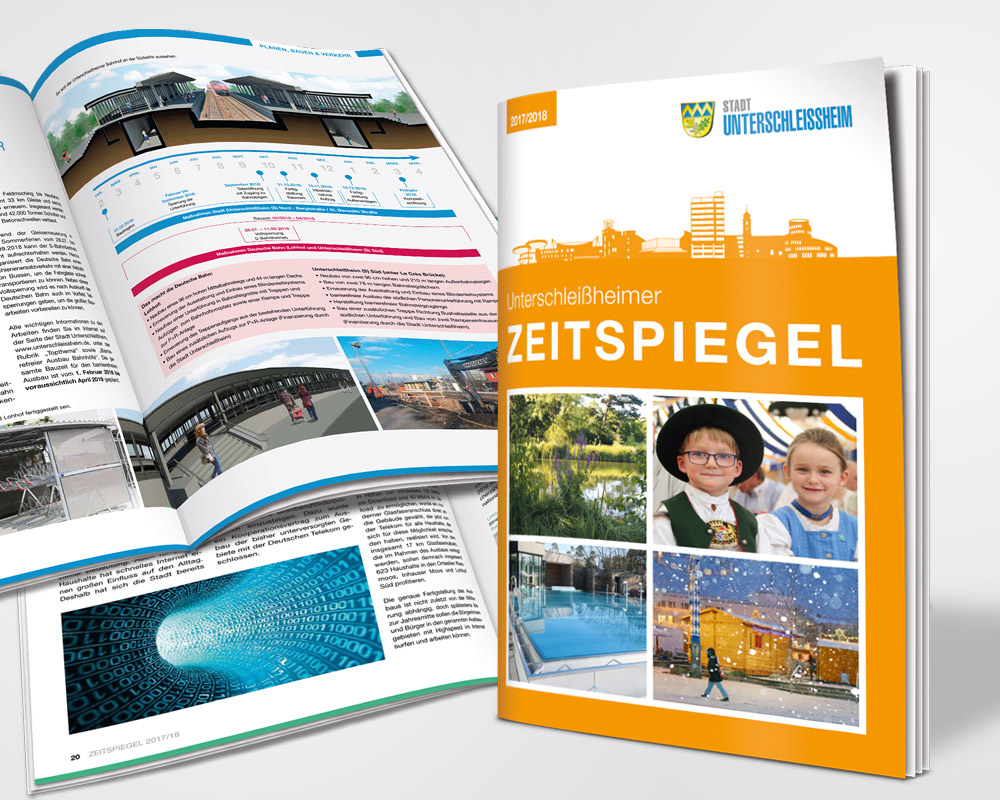 """USH_1000x800_neu Pantos realisiert Stadtmagazin """"Zeitspiegel"""" der Stadt Unterschleißheim."""