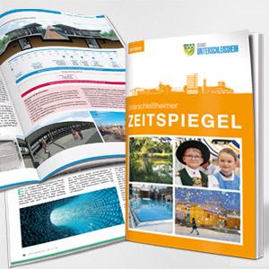 """USH_300x300neu Pantos realisiert Stadtmagazin """"Zeitspiegel"""" der Stadt Unterschleißheim."""