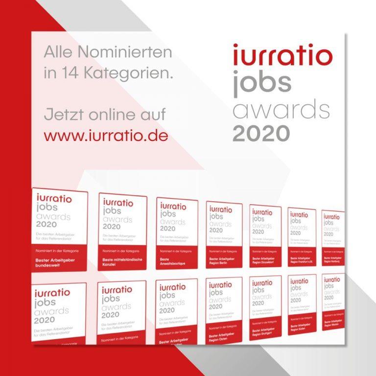 Iurratio jobs awards 2020