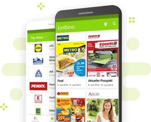 Prospekte-App von Kimbino: Jetzt auch in Deutschland erhältlich