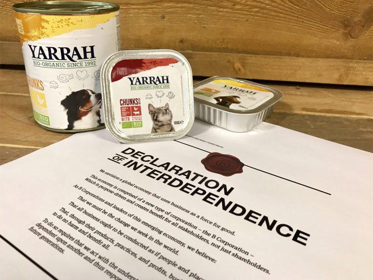 Tiernahrungsexperte Yarrah erhält B Corp-Zertifizierung