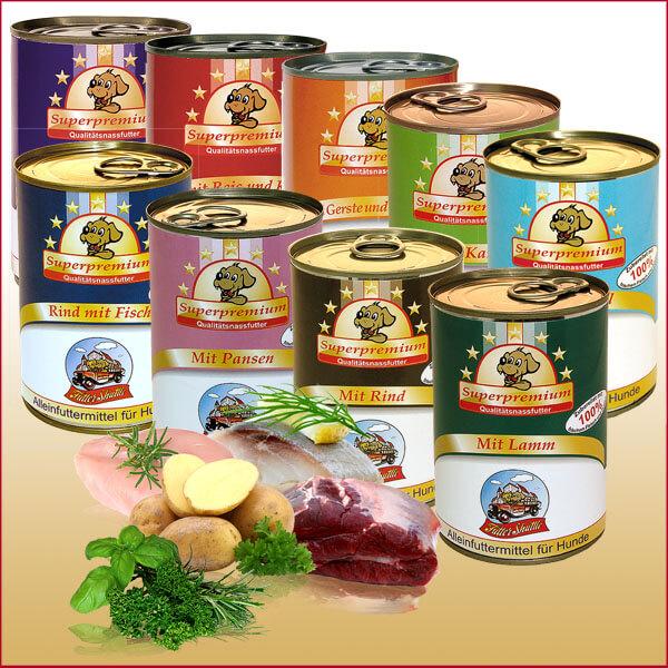 Hunde Nassfutter in Dosen für eine optimale Hundeernährung
