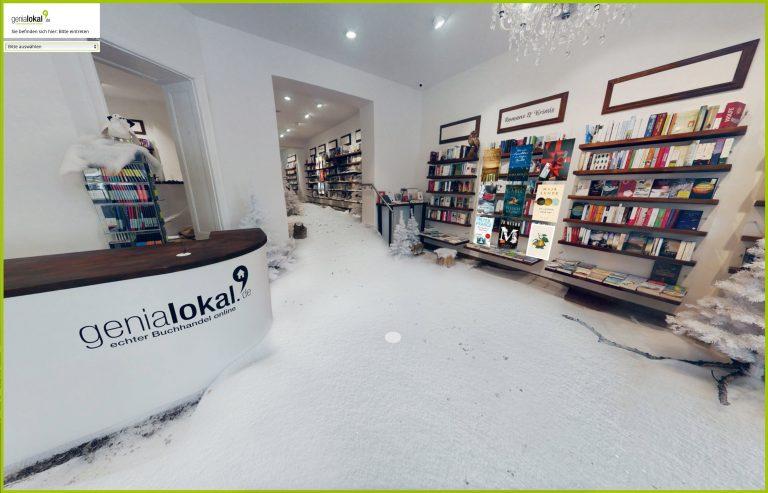 Neues virtuelles Einkaufserlebnis: genialokal.de launcht ersten 3D-Onlineshop für Bücher