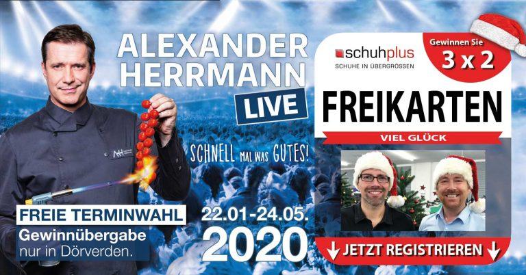 Schuhplus verlost 3×2 Freikarten für Alexander Herrmann LIVE – Schnell mal was Gutes