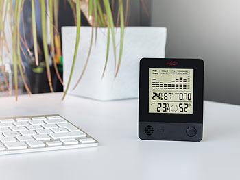 infactory 2in1-Thermometer & Hygrometer, Schimmel-Alarm