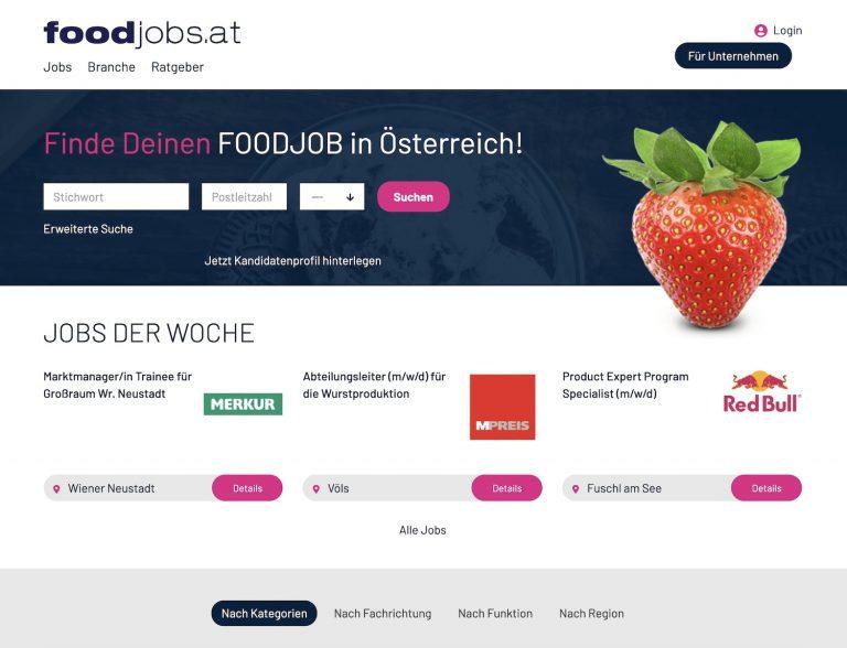 Österreich bekommt ein neues Jobportal für die Lebensmittelbranche – www.foodjobs.at
