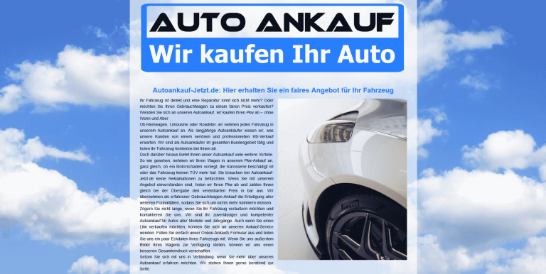 Autoankauf zum Höchstpreis- Wir kaufen Ihr Auto – alle Marken!